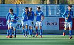 UTRECHT -   Kampong , Jip Janssen (Kampong) heeft gescoord  tijdens  de hoofdklasse hockeywedstrijd mannen, Kampong-Amsterdam (4-3).  COPYRIGHT KOEN SUYK