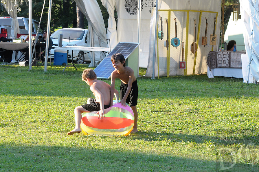 NWA Democrat-Gazette/JOCELYN MURPHY &bull; @NWAJOCELYN<br /> The inaugural Homegrown Music and Sustainability Festival July 22, 2016, at Byrd's Adventure Center in Ozark. The family-friendly festival included headliners Leftover Salmon and The Wood Brothers.