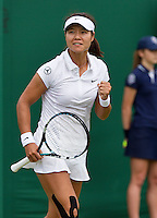 25-06-13, England, London,  AELTC, Wimbledon, Tennis, Wimbledon 2013, Day two, Li Na (CHN)<br /> <br /> <br /> <br /> Photo: Henk Koster