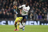 Ryan Bertrand of Southampton and Tanguy NDombele of Tottenham Hotspur during Tottenham Hotspur vs Southampton, Emirates FA Cup Football at Tottenham Hotspur Stadium on 5th February 2020