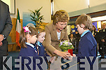 GUARD OF HONOUR: President Mary McAleese at St Oliver's National School, Killarney on Thursday.   Copyright Kerry's Eye 2008