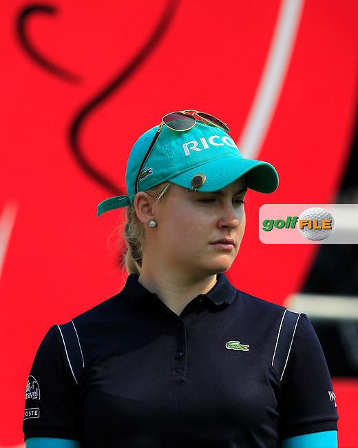 Charley Hull (ENG) in action on the 1st tee during Round 3 of the Honda LPGA Thailand 2016, at the Siam Country Club, Pattaya, Thailand.  27/02/2016. Picture: Golffile | Thos Caffrey.<br /> <br /> All photos usage must carry mandatory copyright credit (&copy; Golffile | Thos Caffrey).