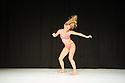 London, UK. 02.10.2014. Choreographer, Margrét Sara Guðjónsdóttir, presents VARIATIONS ON CLOSER, as part of Sadler's Wells Northern Light Season, in the Lilian Baylis Studio. Picture shows: Marie Ursin. Photograph © Jane Hobson.