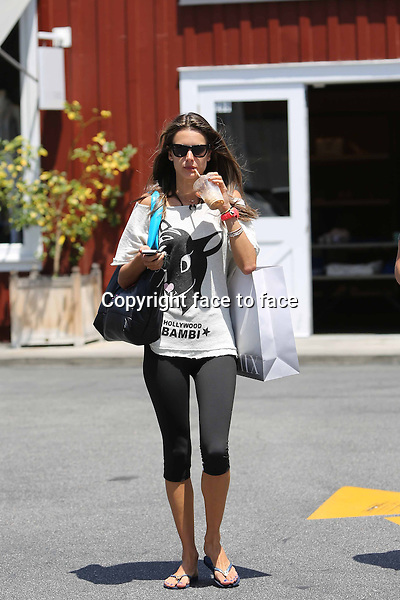 Alessandra Ambrosio is seen leaving intermix store in Brentwood, 18.05.2013..Credit: Vida/face to face
