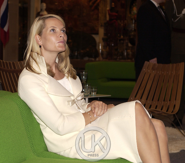 Crown Prince Haakon & Crown Princess Mette-Marit of Norway's visit to Thailand..Visit a Norwegian design exhibition at the Conrad Hotel, Bangkok..