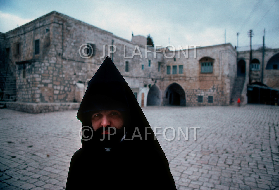 Jerusalem, Israel, November, 1980. Armenian father Asbed Balian.