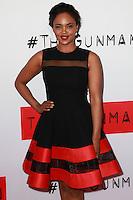 "Sharon Leal<br /> at ""The Gunman"" Premiere, Regal Cinemas, Los Angeles, CA 03-12-15<br /> David Edwards/DailyCeleb.Com 818-249-4998"