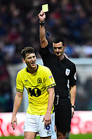 Referee Andy Madley shows a yellow card to Blackburn Rovers' Richard Smallwood<br /> <br /> Photographer Richard Martin-Roberts/CameraSport<br /> <br /> The EFL Sky Bet Championship - Preston North End v Blackburn Rovers - Saturday 24th November 2018 - Deepdale Stadium - Preston<br /> <br /> World Copyright © 2018 CameraSport. All rights reserved. 43 Linden Ave. Countesthorpe. Leicester. England. LE8 5PG - Tel: +44 (0) 116 277 4147 - admin@camerasport.com - www.camerasport.com