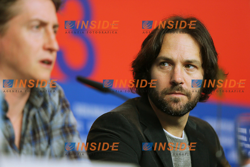 David Gordon Green, Paul Rudd. Berlin 13/02/2013. 63th Berlinale 'Prince Avalanche' press Conference. foto Mark Cape/Insidefoto