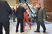Kellyanne Conway (center), campaign manager and strategist, is seen greeting a guest in the lobby of the Trump Tower in New York, New York, on November 28, 2016. <br /> Credit: Anthony Behar / Pool via CNP
