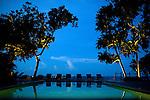 The resorts' seamless, freshwater pool near the ocean on Nikoi.