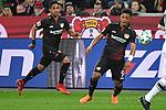 10.03.2018, BayArena, Leverkusen , GER, 1.FBL., Bayer 04 Leverkusen vs. Borussia Moenchengladbach<br /> im Bild / picture shows: <br /> li Wendell (Leverkusen #18),  und Leon Bailey (Leverkusen #9), <br /> <br /> <br /> Foto © nordphoto / Meuter