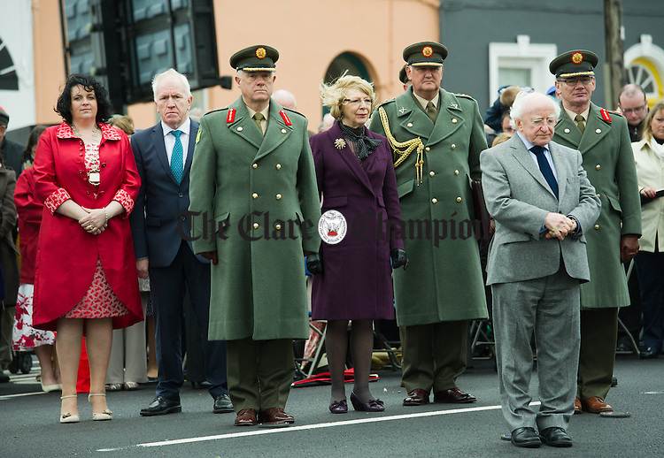 A minutes silence is observed by all during the National Famine Memorial Day Commemoration ceremony at Kilrush. Photograph by John Kelly