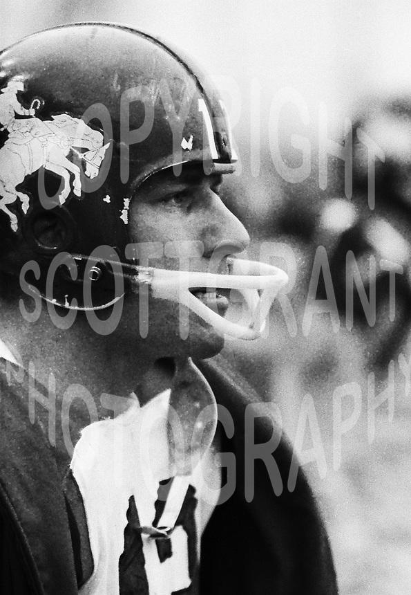 Russ Jackson Ottawa Rough Riders quarterback 1963. Copyright photograph Ted Grant
