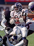 Oakland Raiders vs. Denver Broncos at Oakland Alameda County Coliseum Sunday, October 10, 1999.  Broncos beat Raiders  16-13.  Denver Broncos running back Olandis Gary (22).