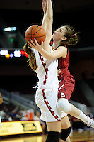 LOS ANGELES, CA - December 29, 2011:  Stanford's Bonnie Samuelson during play against the USC Trojans at the Galen Center.   Stanford defeated USC, 61 - 53.