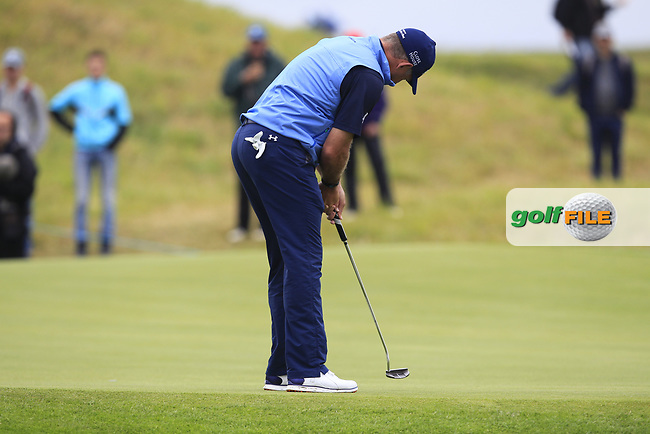 Lee Westwood (ENG) on the 12th green during Round 3 of the HNA Open De France  at The Golf National on Saturday 1st July 2017.<br /> Photo: Golffile / Thos Caffrey.<br /> <br /> All photo usage must carry mandatory copyright credit      (&copy; Golffile | Thos Caffrey)