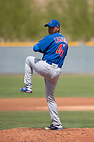 Chicago Cubs starting pitcher Jesus Camargo (41) during a Minor League Spring Training game against the Colorado Rockies at Sloan Park on March 27, 2018 in Mesa, Arizona. (Zachary Lucy/Four Seam Images)