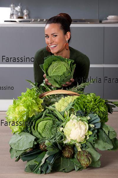 Michela Coppa per Gente <br /> dieta alla clorofilla