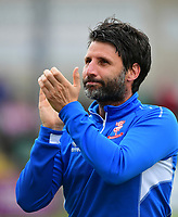 Lincoln City manager Danny Cowley during the pre-match warm-up<br /> <br /> Photographer Chris Vaughan/CameraSport<br /> <br /> The EFL Sky Bet League Two Play Off First Leg - Lincoln City v Exeter City - Saturday 12th May 2018 - Sincil Bank - Lincoln<br /> <br /> World Copyright &copy; 2018 CameraSport. All rights reserved. 43 Linden Ave. Countesthorpe. Leicester. England. LE8 5PG - Tel: +44 (0) 116 277 4147 - admin@camerasport.com - www.camerasport.com