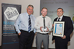17/07/2015 The IRTE Skills Challenge 2015 prize-giving takes place at The National Motorcycle Museum, Birmingham. Sir Moir Lockhead (left) presents the runner up Electrical Technician prize to Andrew Howie of FirstGroup.