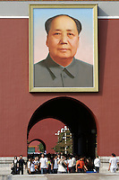 Tian'anmen Square (Place of Heavenly Peace). Tian'anmen Gate. Chairman Mao portrait.