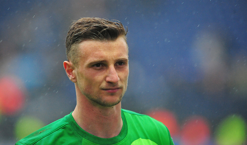 Preston North End's Declan Rudd <br /> <br /> Photographer Chris Vaughan/CameraSport<br /> <br /> Football - The Football League Sky Bet League One Play-Off First Leg - Preston North End v Rotherham United - Saturday 10th May 2014 - Deepdale - Preston<br /> <br /> &copy; CameraSport - 43 Linden Ave. Countesthorpe. Leicester. England. LE8 5PG - Tel: +44 (0) 116 277 4147 - admin@camerasport.com - www.camerasport.com