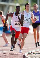 17 MAY 2009 - LOUGHBOROUGH,GBR - Nigel Levine - Mens 4 x 400m Relay - Loughborough International Athletics .(PHOTO (C) NIGEL FARROW)
