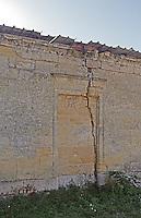 A wall in ruin. Vieux Chateau Gaubert, Graves, Bordeaux, France