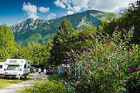 Active Camping in the Soca Valley of the Julian Alps, Slovenia