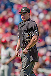 7 September 2014: MLB Umpire Tom Woodring works a game between the Philadelphia Phillies and the Washington Nationals at Nationals Park in Washington, DC. The Phillies fell to the Nationals 3-2 in their final meeting of the season. Mandatory Credit: Ed Wolfstein Photo *** RAW (NEF) Image File Available ***