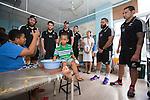 Heiden Bedwell-Curtis (L), Tawera Kerr-Barlow, Hayden Triggs, Ben May, Joe Royal, Codey Rei. Suva Children's Hospital. Suva, Fiji. July 10 2015. Photo: Marc Weakley