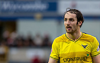Danny Hylton of Oxford United during the Sky Bet League 2 match between Wycombe Wanderers and Oxford United at Adams Park, High Wycombe, England on 19 December 2015. Photo by Andy Rowland.