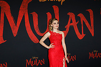 "LOS ANGELES - MAR 9:  Meg Donnelly at the ""Mulan"" Premiere at the Dolby Theater on March 9, 2020 in Los Angeles, CA"