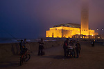 Mosque Hassan II illuminates the night sky on Casablanca's Atlantic coast. The Mosque, third largest in the world, has a green laser beam that points to Mecca and can be seen on clear nights.<br /> <br /> Ben Sklar for the New York Times