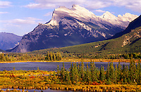 Banff National Park. Mount Rundle and the Vermilion Lakes