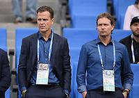 FUSSBALL FIFA Confed Cup 2017 Vorrunde in Sotchi 19.06.2017  Australien - Deutschland  Teammanager Oliver Bierhoff (li) und Co Trainer Marcus Sorg (v.li, beide Deutschland)