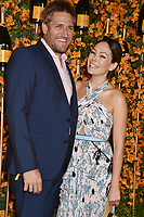 PACIFIC PALISADES, CA - OCTOBER 06: Curtis Stone and Lindsay Price arrive at the 9th Annual Veuve Clicquot Polo Classic Los Angeles at Will Rogers State Historic Park on October 6, 2018 in Pacific Palisades, California.<br /> CAP/ROT/TM<br /> &copy;TM/ROT/Capital Pictures