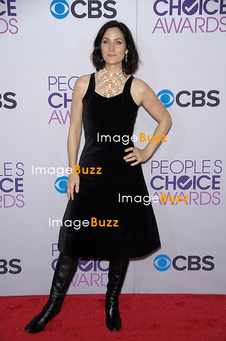 Carrie Anne Moss during the Peoples Choice Awards 2013, held at the Nokia Theatre, on January 9, 2013, in Los Angeles..
