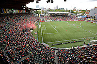 Portland, Oregon - Sunday October 2, 2016: General view of Providence Park during a semi final match of the National Women's Soccer League (NWSL) at Providence Park.
