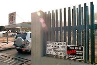 - entry of Camp Darby US military base near Livorno....- ingresso della base militare USA di Camp Darby presso Livorno