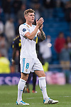Toni Kroos of Real Madrid gestures after the UEFA Champions League 2017-18 match between Real Madrid and Tottenham Hotspur FC at Estadio Santiago Bernabeu on 17 October 2017 in Madrid, Spain. Photo by Diego Gonzalez / Power Sport Images