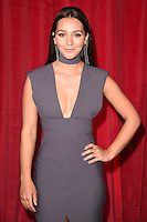 Nadine Mulkerrin<br /> arrives for the British Soap Awards 2016 at Hackney Empire, London.<br /> <br /> <br /> &copy;Ash Knotek  D3124  28/05/2016