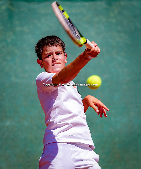 Hilversum, Netherlands, August 6, 2018, National Junior Championships, NJK, Pavel  Ofitserov (NED)<br /> Photo: Tennisimages/Henk Koster
