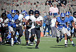 November 4, 2017:  Army West Point quarterback, Ahmad Bradshaw #17, breaks free for a long gain during the NCAA Football game between the Army West Point Black Knights and the Air Force Academy Falcons at Falcon Stadium, United States Air Force Academy, Colorado Springs, Colorado.  Army West Point defeats Air Force 21-0.