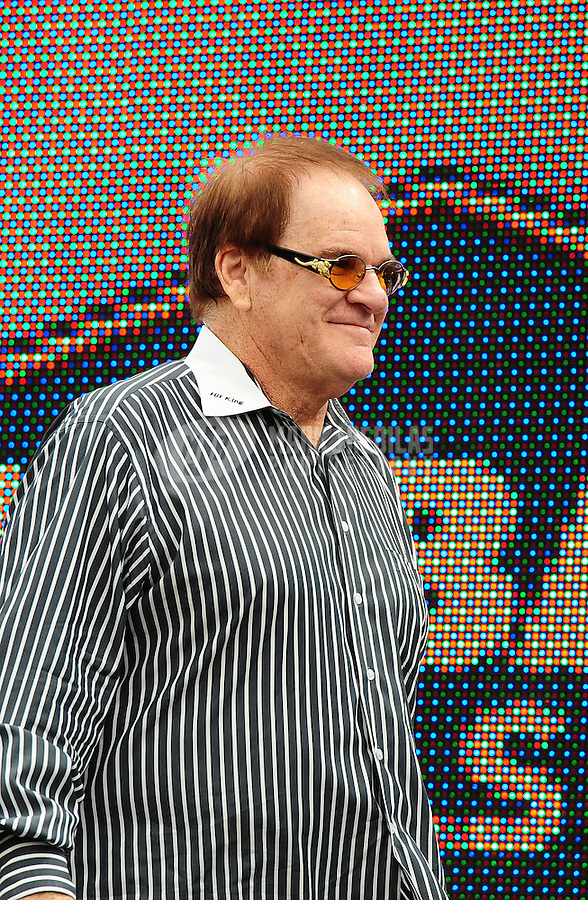 Mar. 6, 2011; Las Vegas, NV, USA; MLB former player Pete Rose in attendance during the Kobalt Tools 400 at Las Vegas Motor Speedway. Mandatory Credit: Mark J. Rebilas-