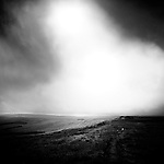 Desolate, dark and brooding Moorland landscape, England