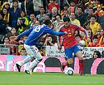 Partido amistoso en el estadio Santiago Bernabeu Espana le gano 1x0 al selecionado de Colombia