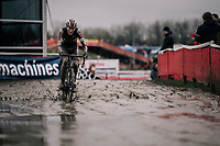 Timo Kielich (BEL/Steylaerts-777) on his way to victory in the U23 Men's Race<br /> <br /> Belgian National CX Championschips<br /> Kruibeke 2019
