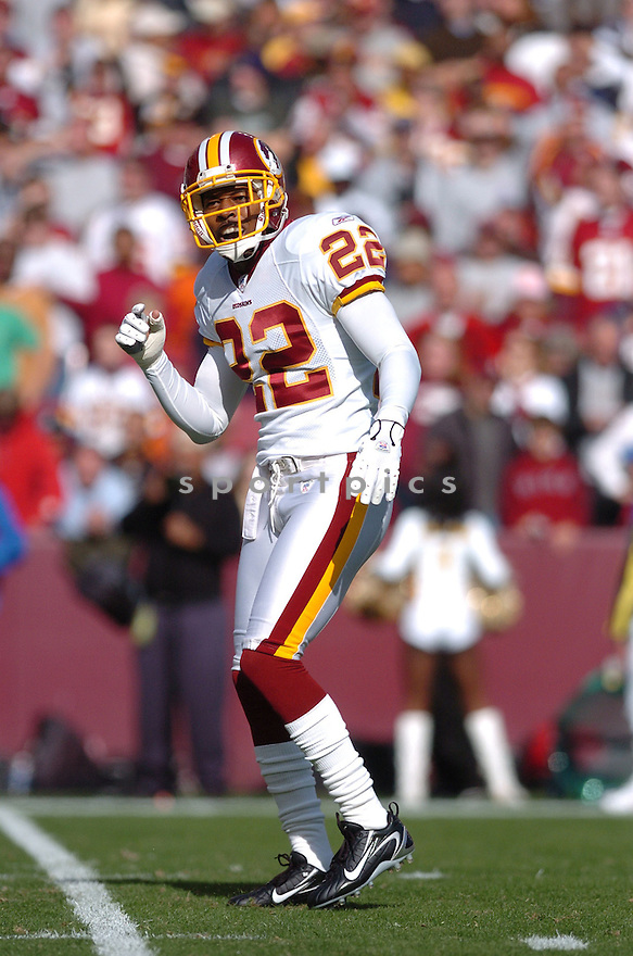 CARLOS ROGERS, of the Washington Redskins ,during their game against  the Dallas Cowboys  on Novmeber 05, 2006 in Washington D.C....Redskins win 22-19..Tomasso DeRosa / SportPics